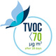 TVOC after 28 days < 70 µg/m3