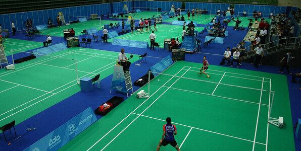taraflex® badminton - vinyl sports flooring