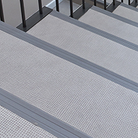 Grooved PVC Stair Nosing Straight Angles T49